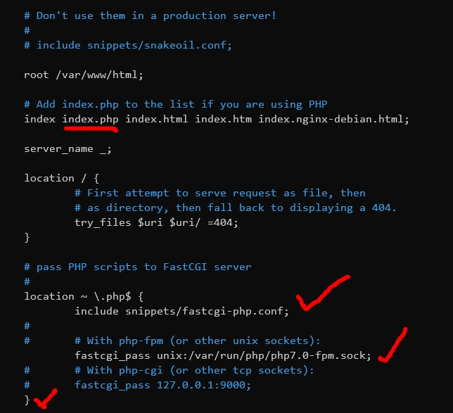 konfigurasi php pfm